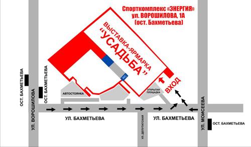 """Выставка-ярмарка """"Усадьба"""" - карта"""