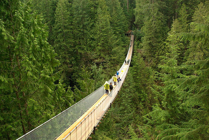 Висячий мост Капилано в Ванкувере