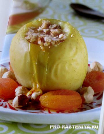 Что приготовить из яблок - яблоки печеные с медом в мультварке