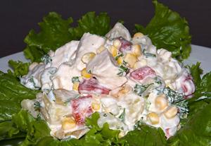 Ананасный салат